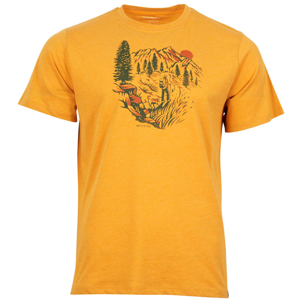 UNITED BY BLUE Men's Passing Through Short-Sleeve Tee - GOLD