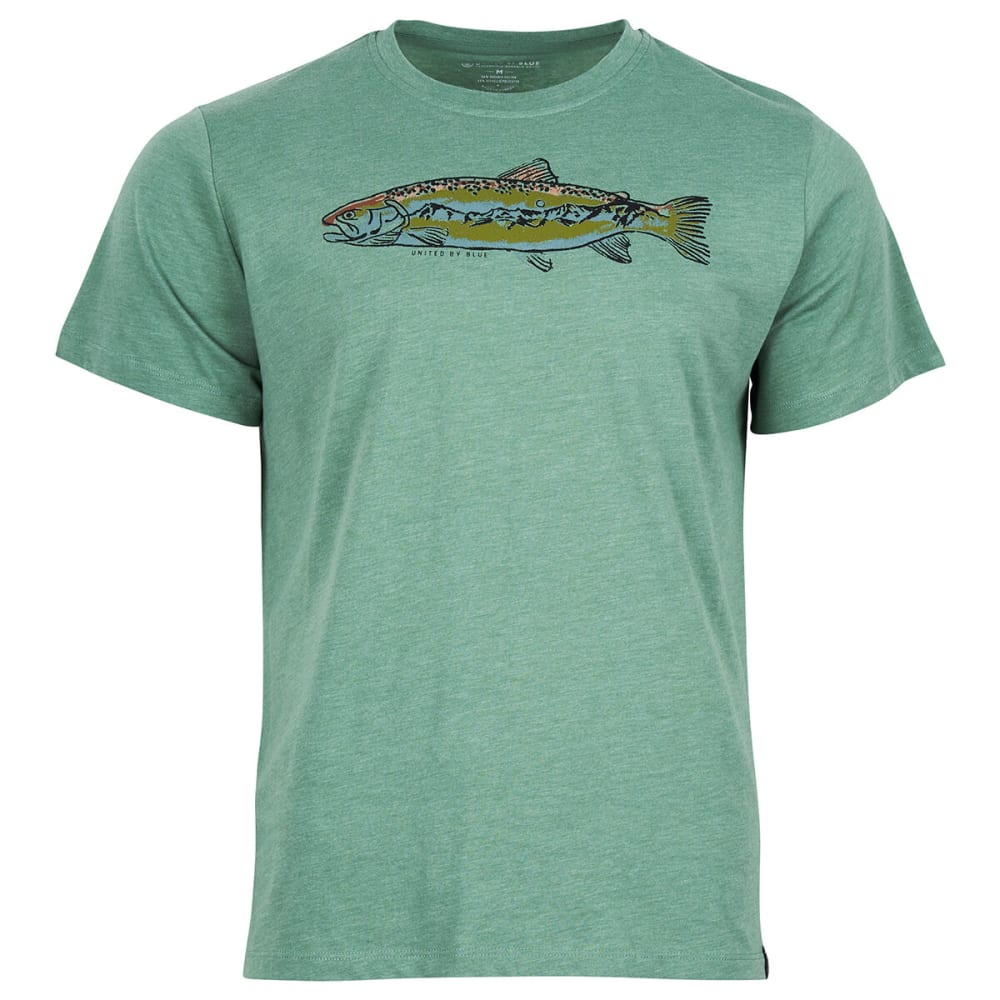 UNITED BY BLUE Men's Scale New Heights Short-Sleeve Tee - FERN GREEN