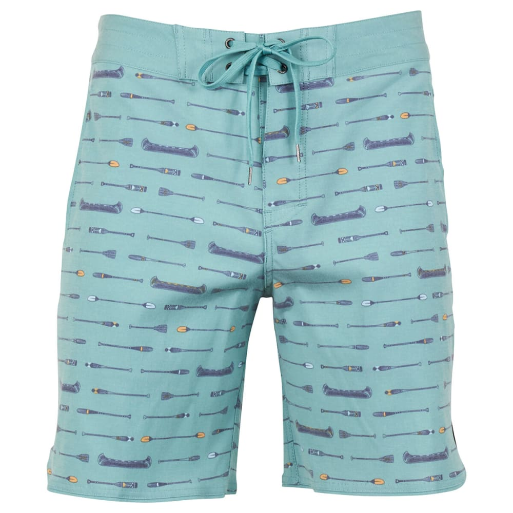 UNITED BY BLUE Men's Canoe Scallop Boardshorts 30