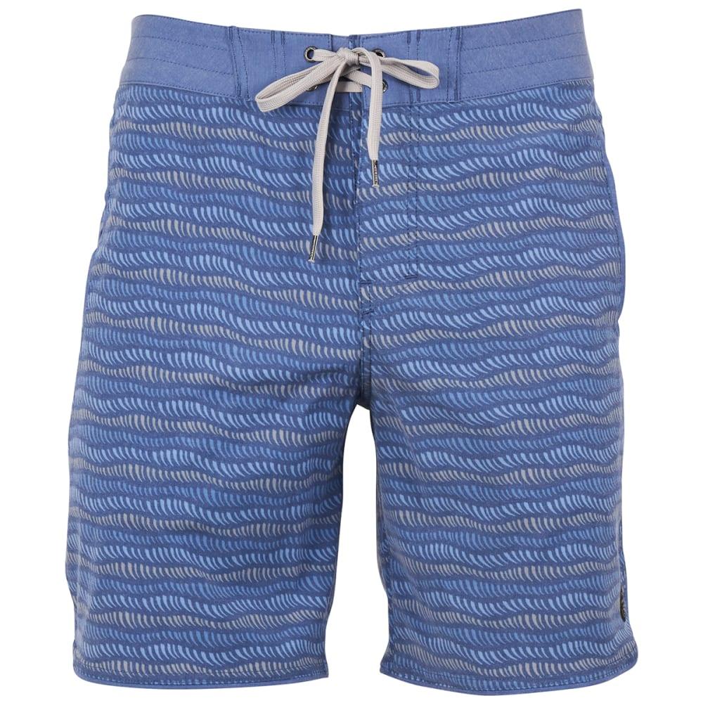 UNITED BY BLUE Men's Shoreline Scallop Boardshorts - SHORLINE SCALLOP