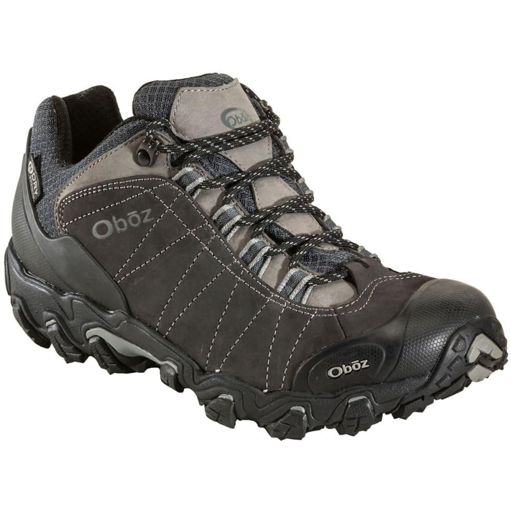 OBOZ Men's Bridger Low B-Dry Waterproof Hiking Shoes, Wide - DK SHADOW