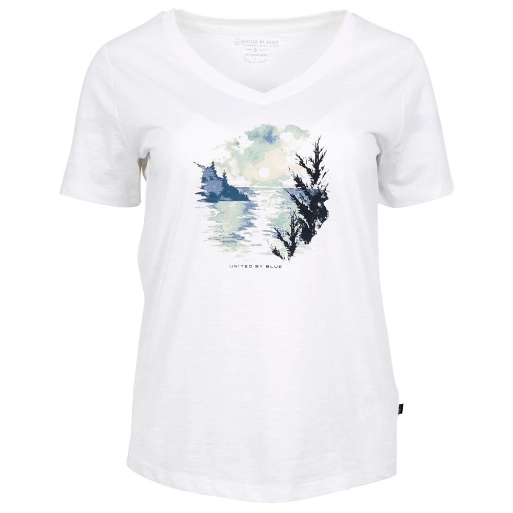 UNITED BY BLUE Women's Last Light Short-Sleeve Tee - WHITE