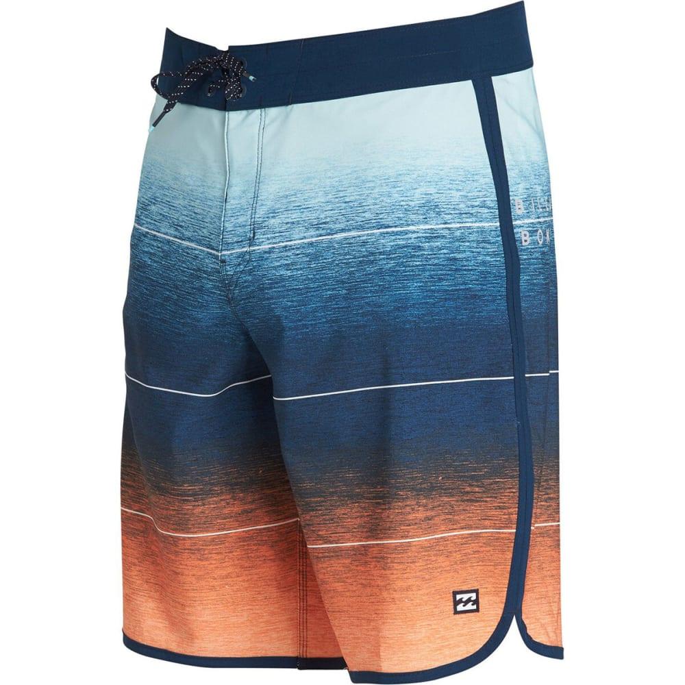 BILLABONG Guys' 73 Stripe Pro Boardshorts - ORG-ORANGE