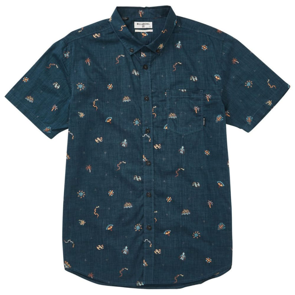BILLABONG Guys' Sundays Mini Short-Sleeve Shirt - MID-MIDNIGHT