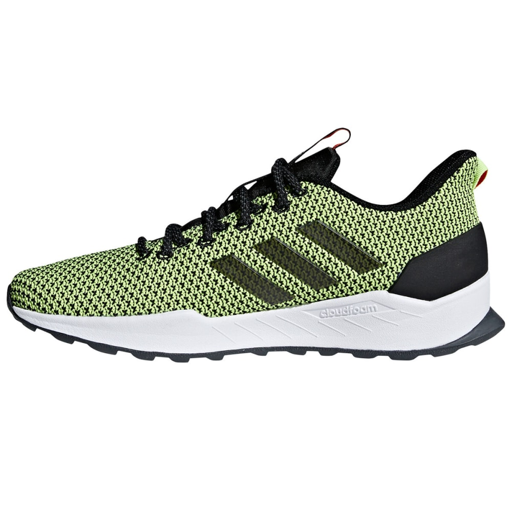 ADIDAS Men's Questar Trail Running Shoes - CORE BLK/YLLW-F35001