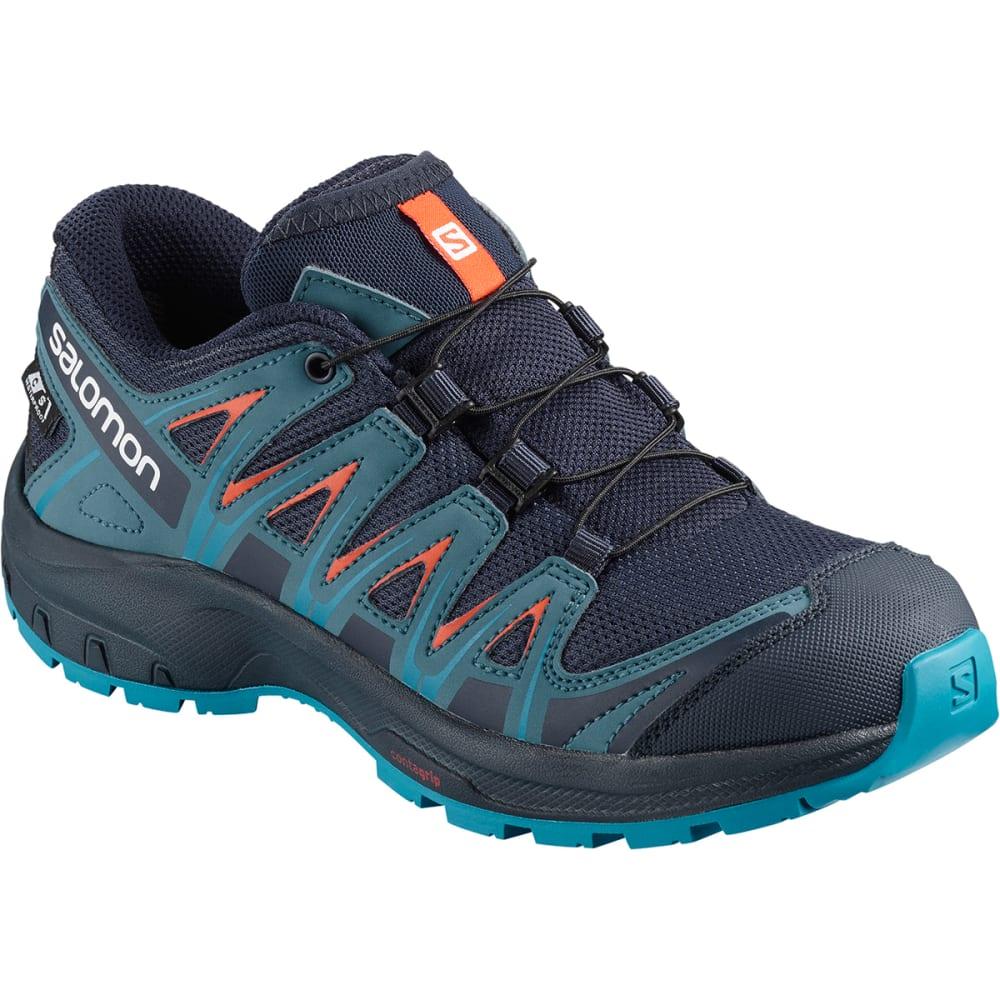 SALOMON Kids' XA Pro 3D CSWP J Trail Running Shoes - NVY/MAL/SURF