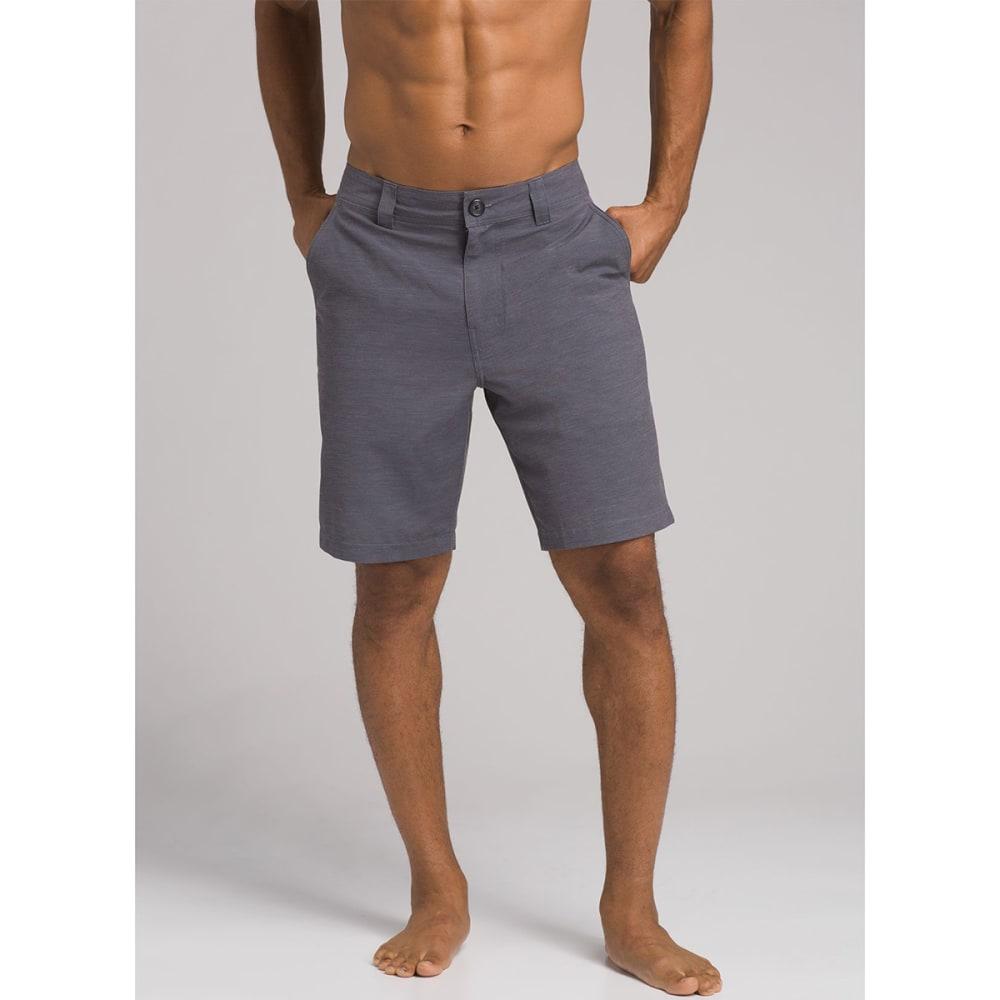 PRANA Men's 9 in. Rotham Hybrid Shorts - GRANITE