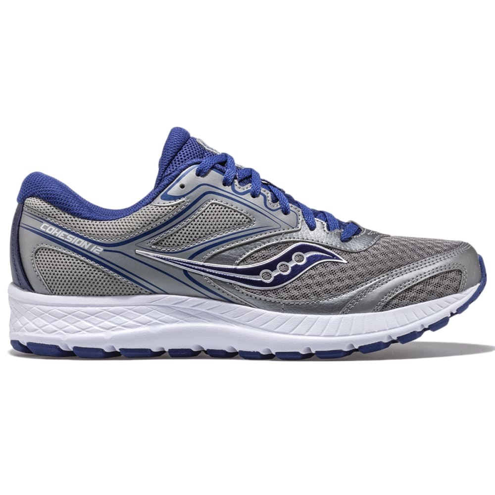 SAUCONY Men's Cohesion 12 Sneaker - GREY/BLUE-1