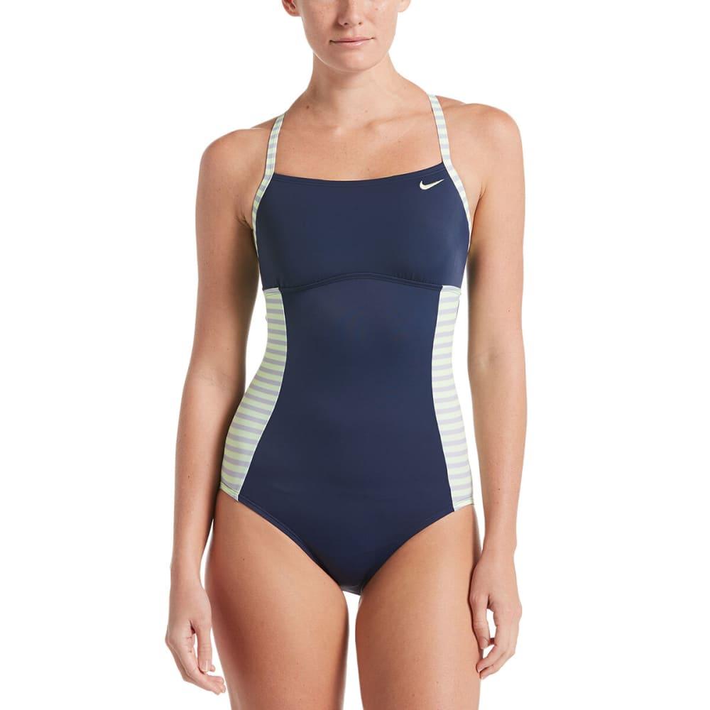NIKE Women's Laser Crossback One-Piece Swimsuit - MIDNIGHT NAVY-440