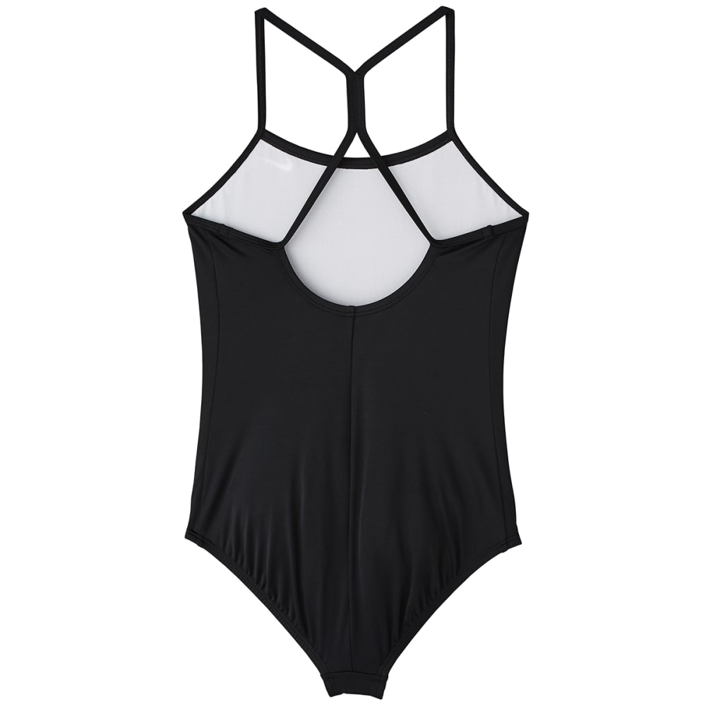 NIKE Big Girls' Solid Racerback One-Piece Swimsuit - BLACK-001