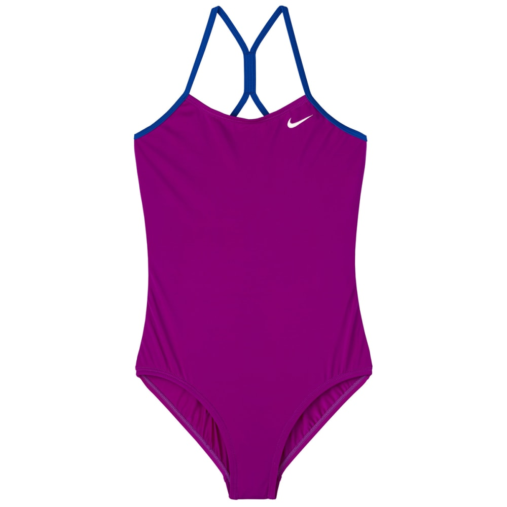 NIKE Big Girls' Solid Racerback One-Piece Swimsuit XS
