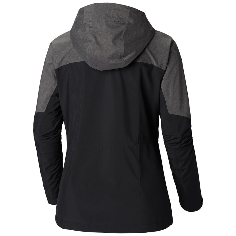 COLUMBIA Women's Evolution Valley II Jacket - BLACK CHAR HEATHER