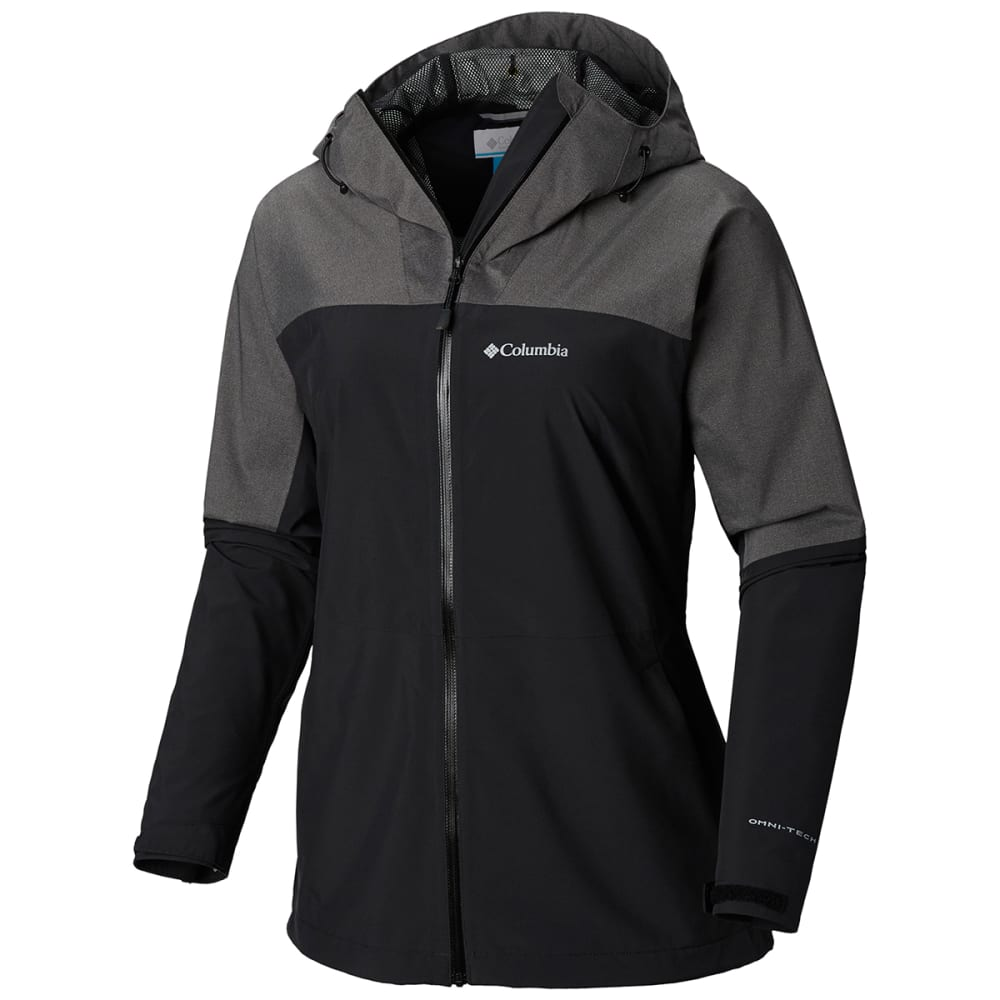 COLUMBIA Women's Evolution Valley II Jacket - 010 BLACK CHAR HTR
