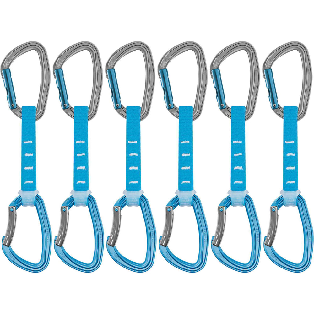PETZL DJINN AXESS Quickdraws, 12cm, Pack of 6 - BLUE