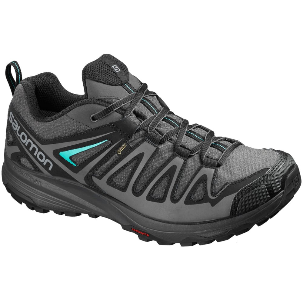 SALOMON Women's X Crest Low Hiking Shoes - ALLOY/EBONY/MALAGA