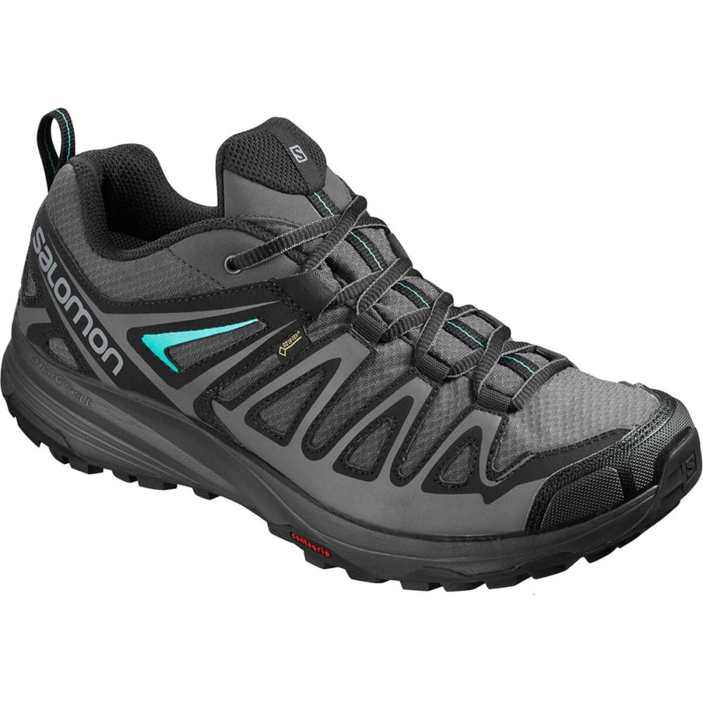 SALOMON Women's X Crest GTX Low Hiking Shoe - MAGNET/BLK/ATLANTIS