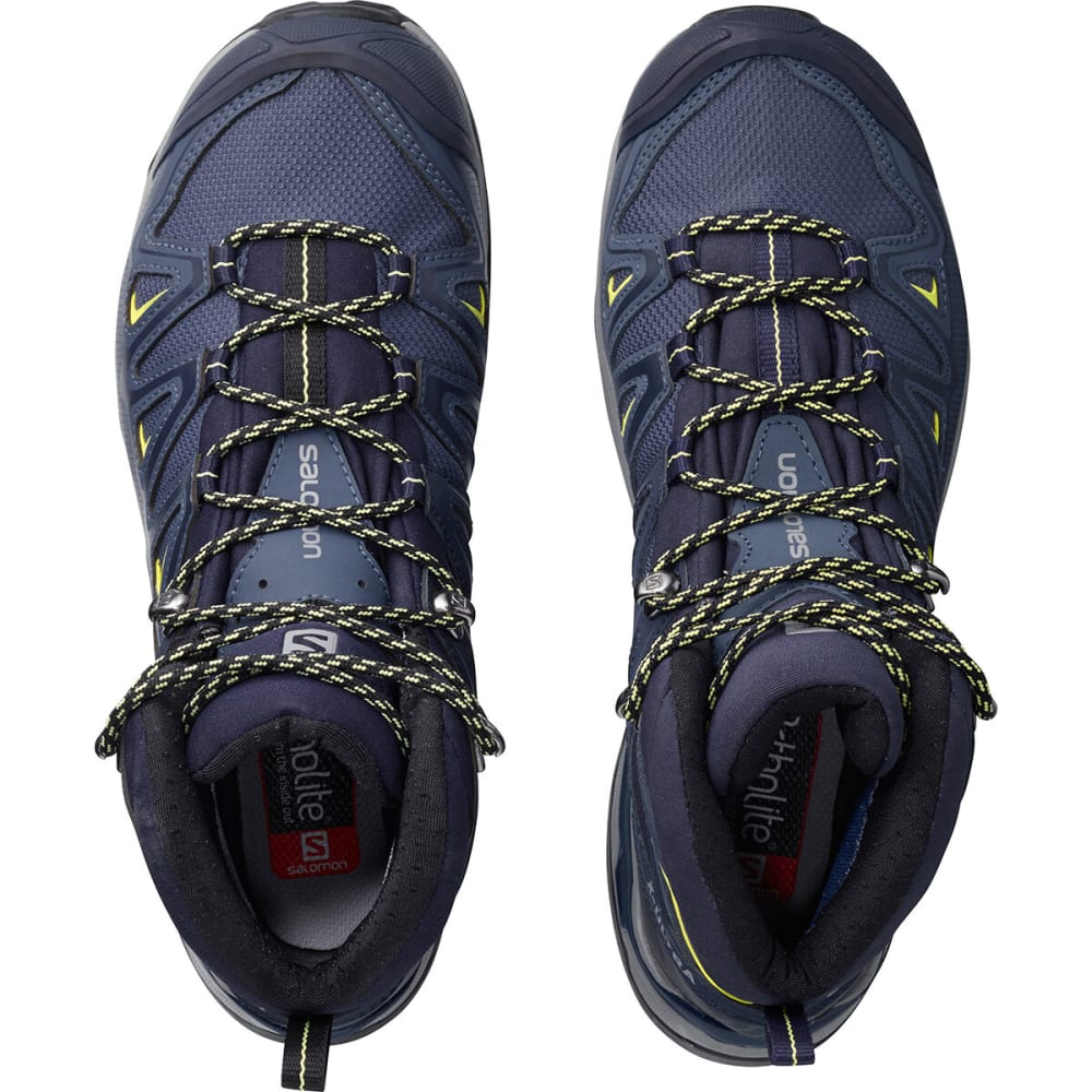 SALOMON Women's X Ultra 3 Mid GTX Hiking Boots, Wide - CROWN BLU/EVENING BL