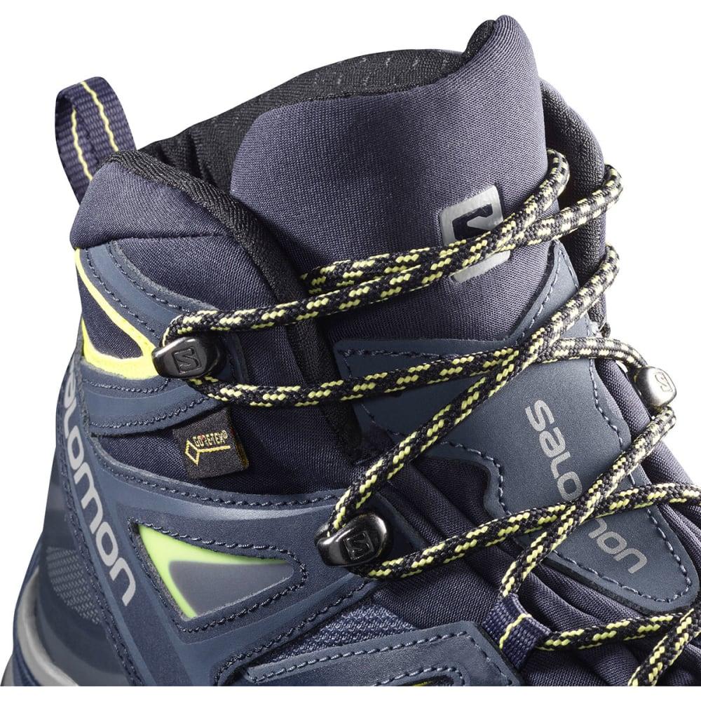 SALOMON Women's X Ultra 3 Mid GTX Hiking Boots, Wide - CROWN BLU/EVENING BL