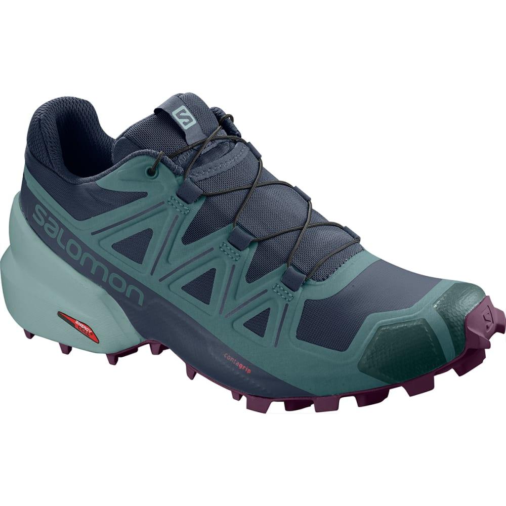 SALOMON Women's Speedcross 5 Trail Shoes - NAVY BLAZER
