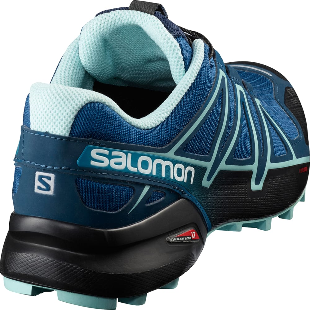 SALOMON Women's Speedcross 4 Trail Shoes, Wide - POSEIDON/EGGSHELL