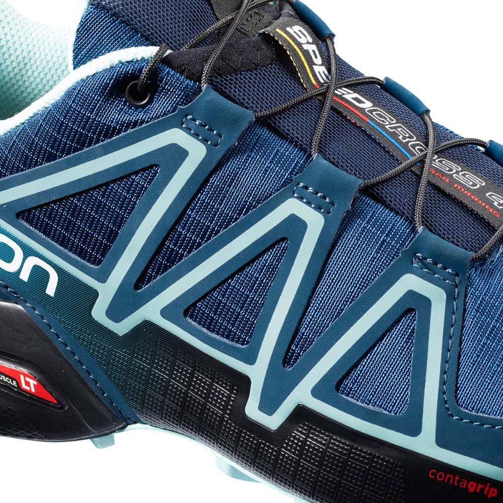 SALOMON Women's Speedcross 4 Trail Shoes, Wide - POSEIDON/EGGSHELL