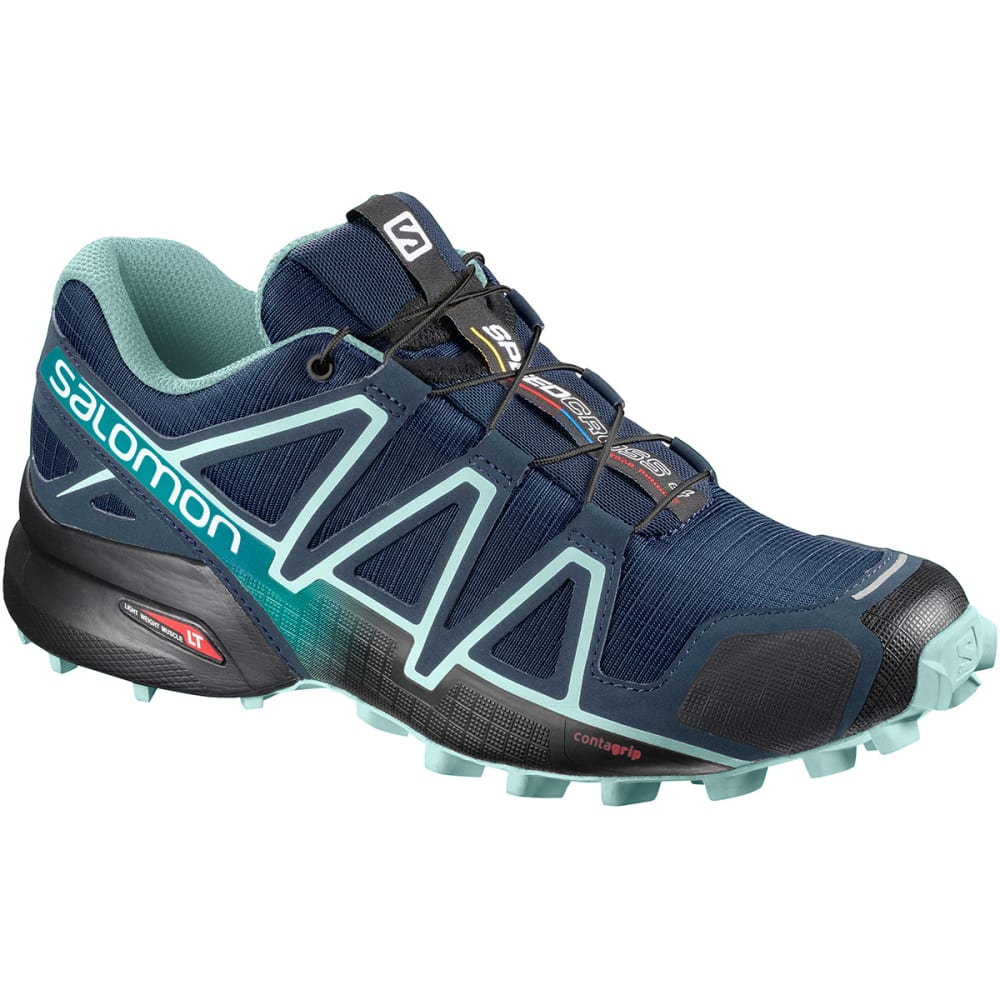SALOMON Women's Speedcross 4 Wide Trail Shoes - POSEIDON/EGGSHELL