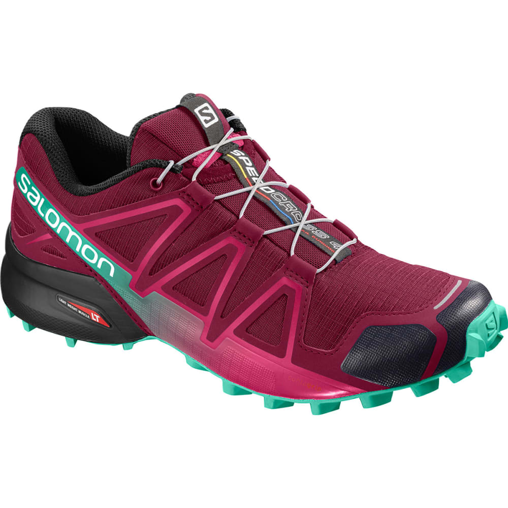 SALOMON Women's Speedcross 4 Shoes - BEET RED