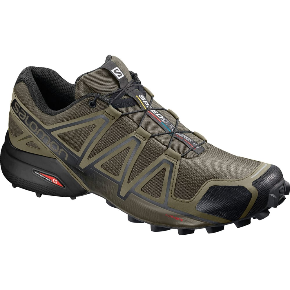 SALOMON Men's Speedcross 4 Shoes, Wide - GRAPE LEAF