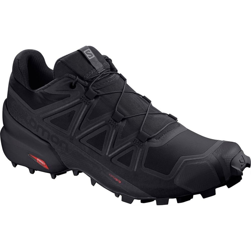 SALOMON Men's Speedcross 5 Trail Running Shoe - BLACK/BLACK
