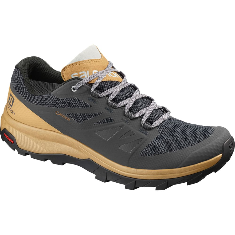 SALOMON Men's Outline Low GTX Hiking Shoes - EBONY/BISTRE/PEARL