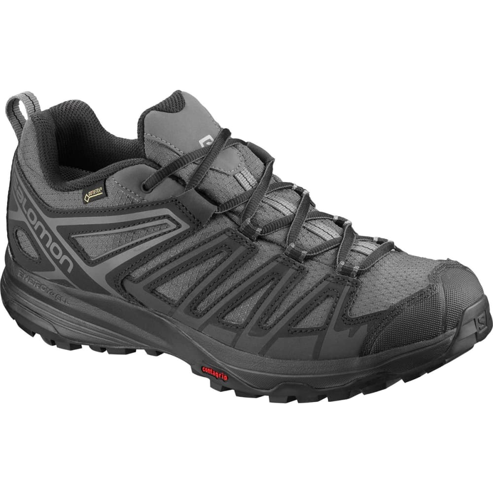 SALOMON Men's X Crest GTX Hiking Boots - MAGNET/BLACK