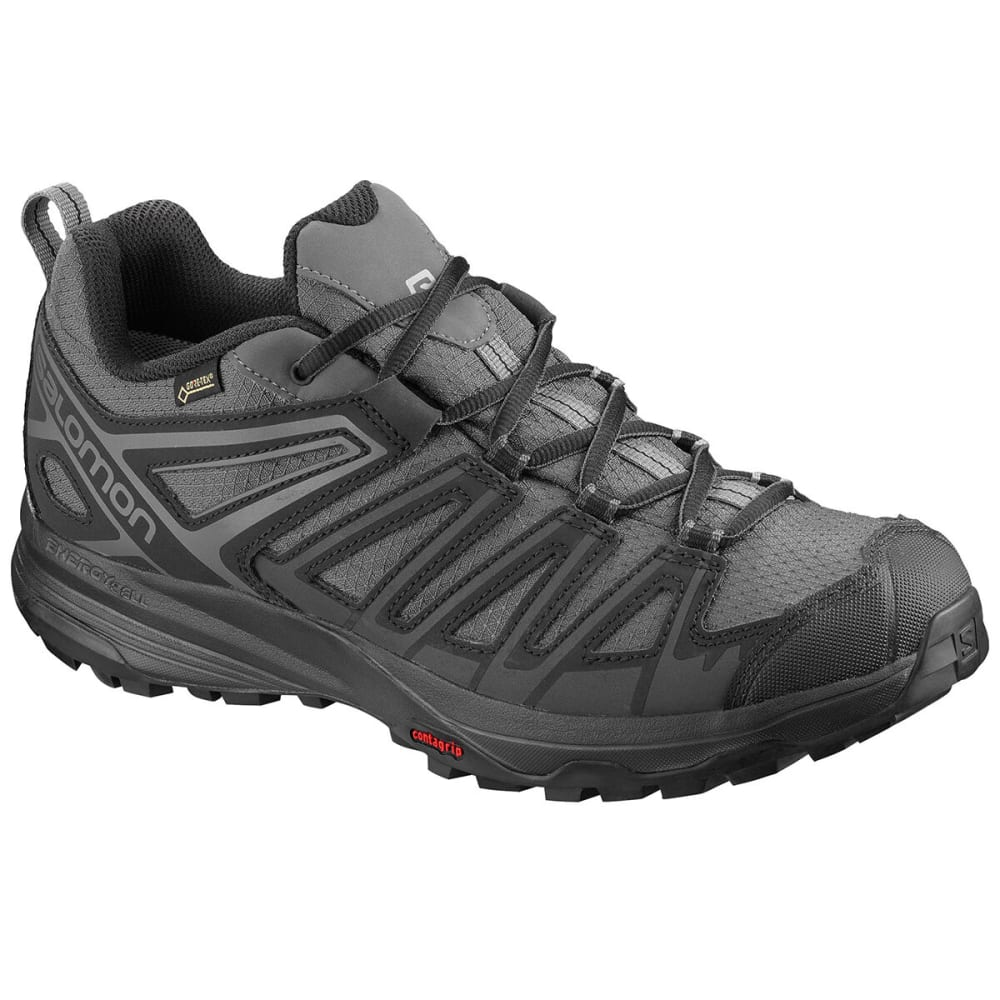SALOMON Men's X Crest Low Hiking Shoes - MAGNET/BLACK
