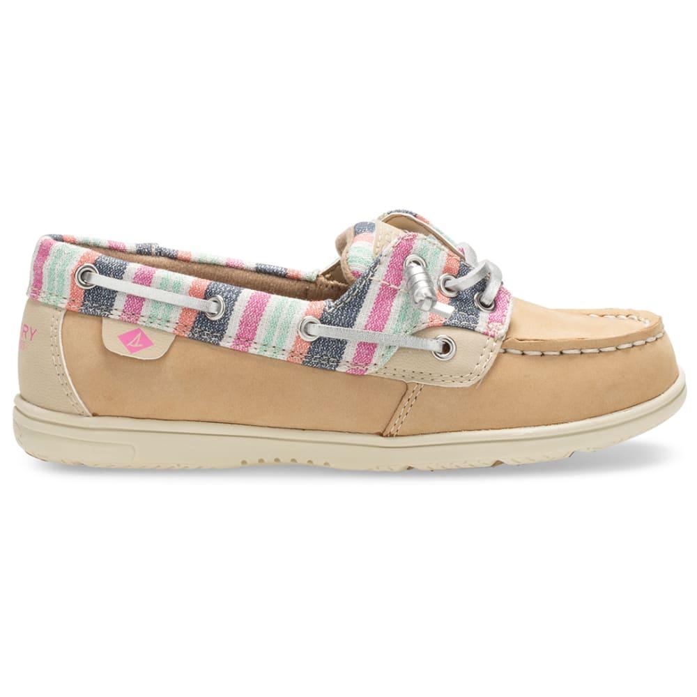SPERRY Girls' Shoresider 3-Eye Boat Shoe - SPARKLE STRIPE