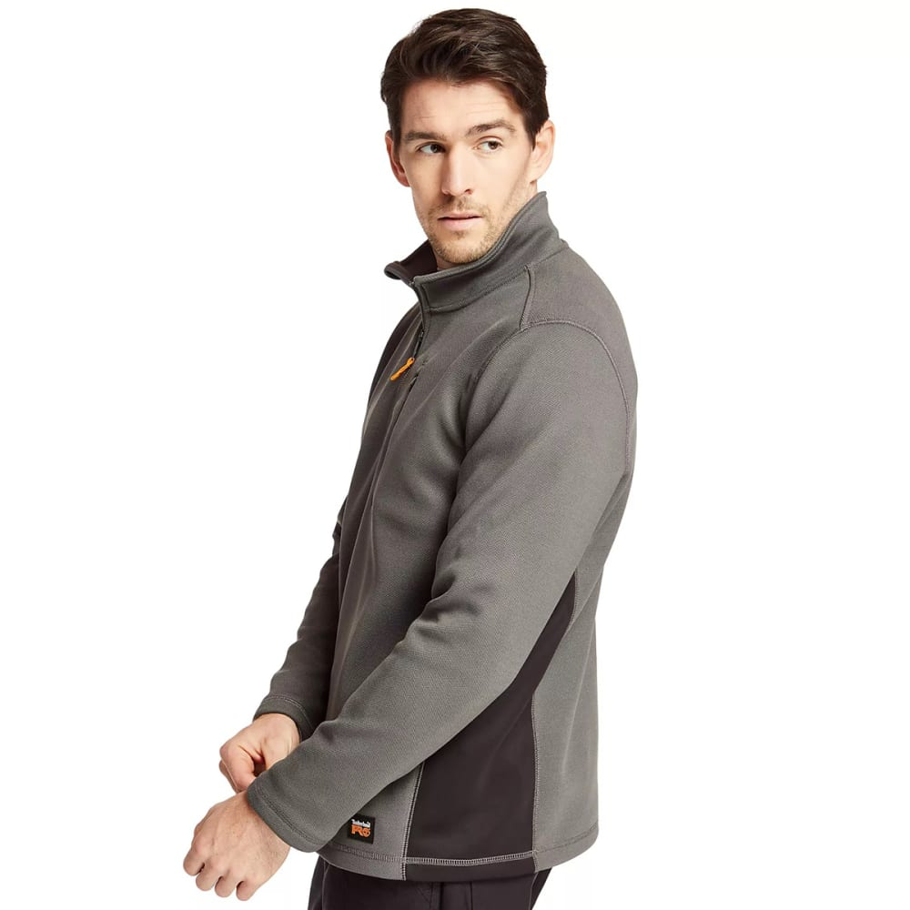 TIMBERLAND PRO Men's Studwall 1/4-Zip Textured Fleece Pullover - PEWTER 060
