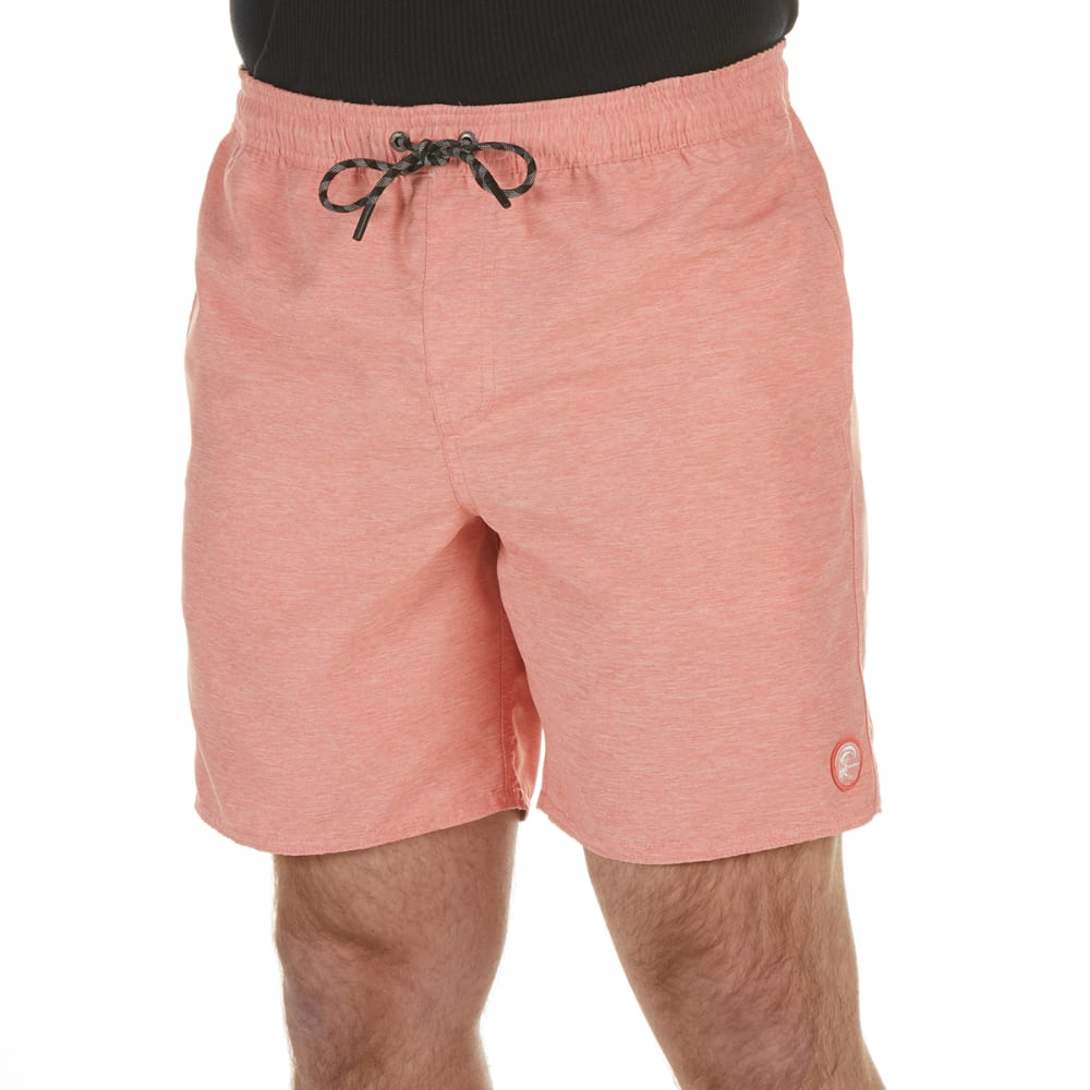O'NEILL Young Men's Seabreeze Volley Boardshorts - FADED RED