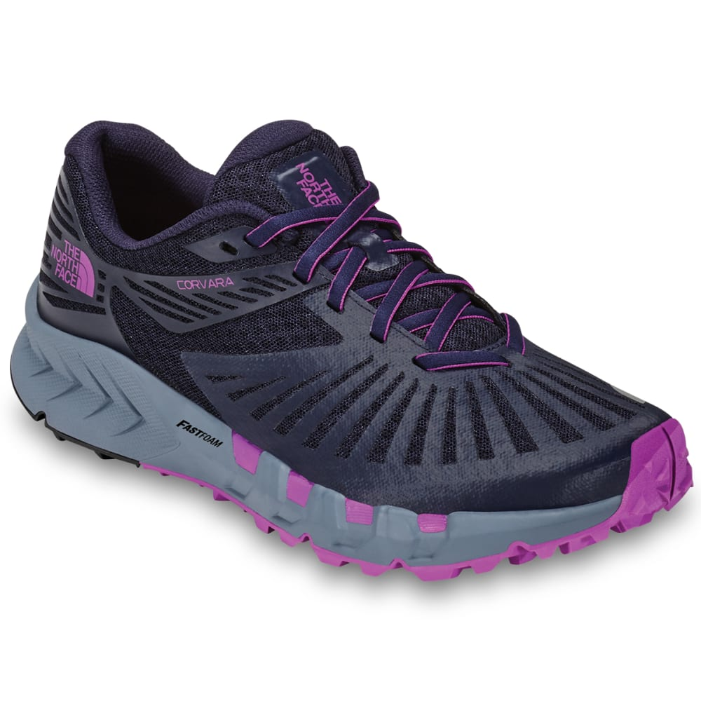 THE NORTH FACE Women's Corvara Running Shoes - PEACOAT NVY/PURP-C82