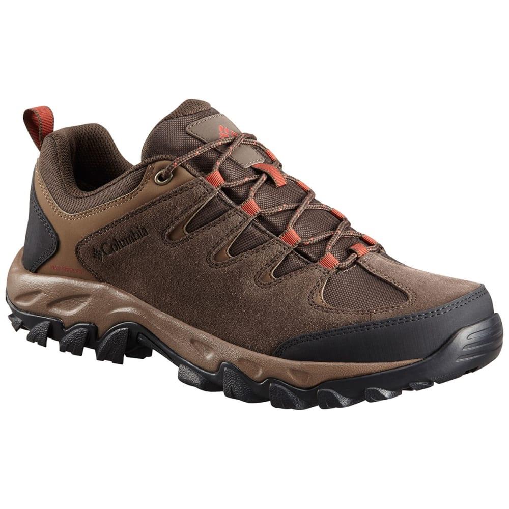 COLUMBIA Men's Buxton Peak Waterproof Hikers, Wide - CORDOVAN/RUST-231