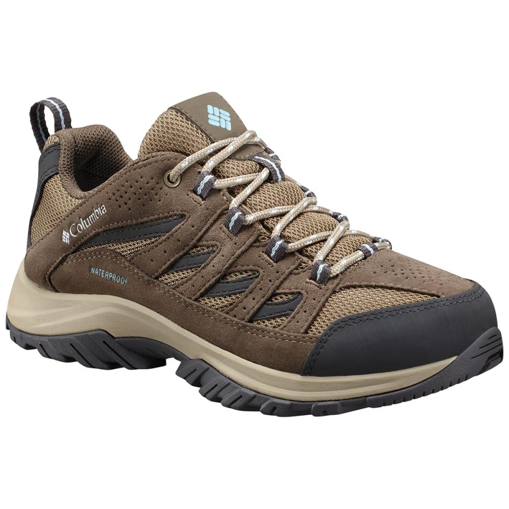 COLUMBIA Women's Crestwood Waterproof Hiker - PEBBLE/OXYGEN-227