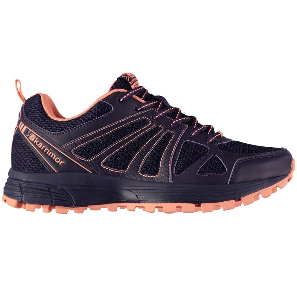 KARRIMOR Women's Caracal Trail Running Shoes - Purple/Coral