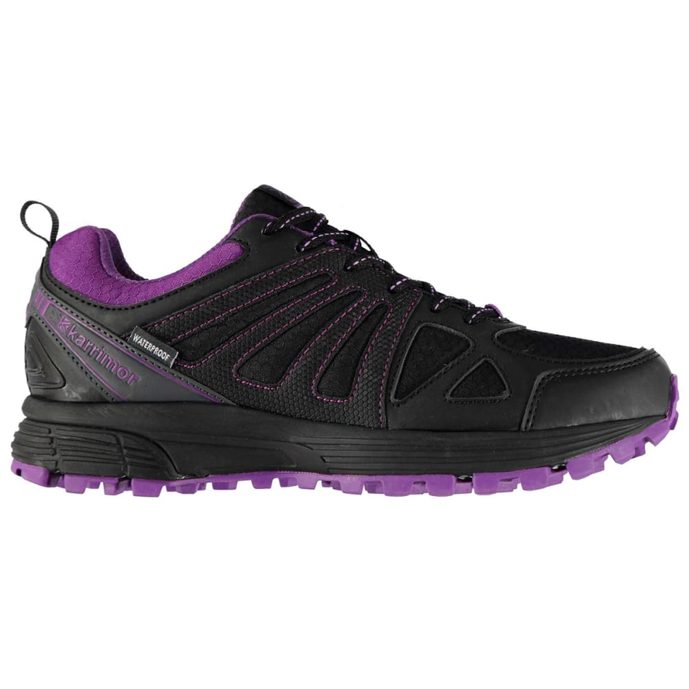 KARRIMOR Women's Caracal Waterproof Trail Running Shoes - BLACK/PURPLE