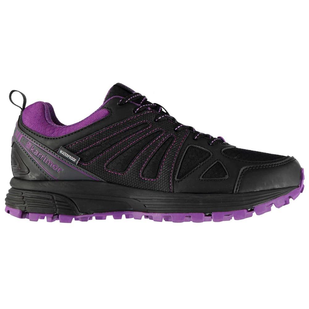 KARRIMOR Women's Caracal Waterproof Trail Running Shoes - BLACK/PURPLE