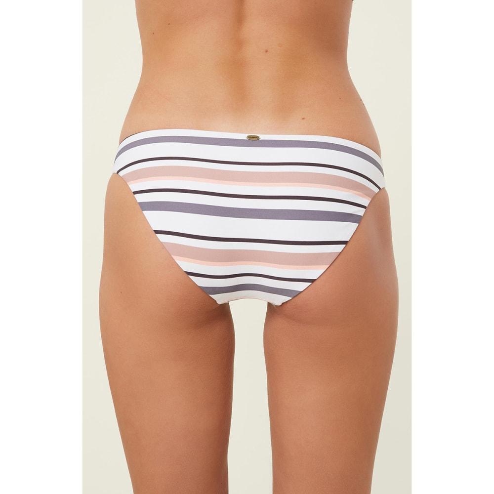 O'NEILL Juniors' Nova Tri Stripe Swim Bottoms - WHITE