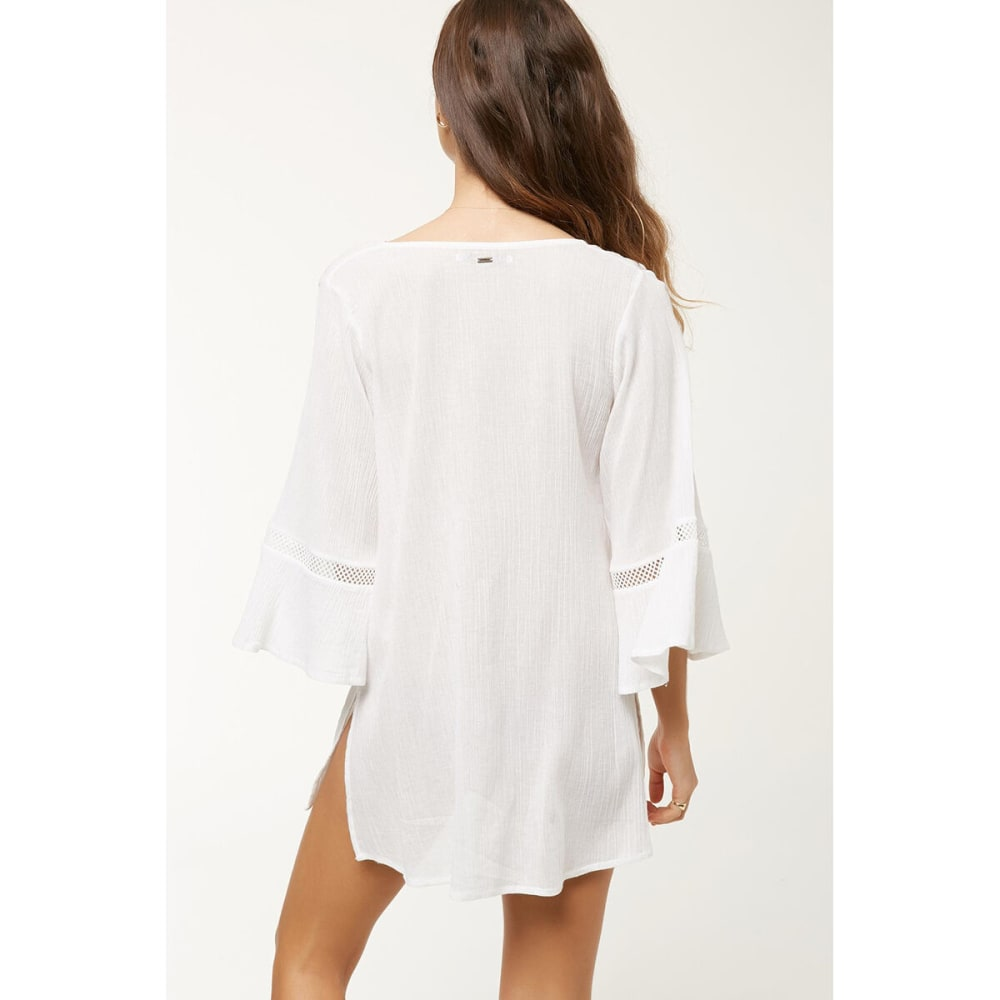 O'NEILL Women's Water Solids Long-Sleeve Cover Up - WHITE