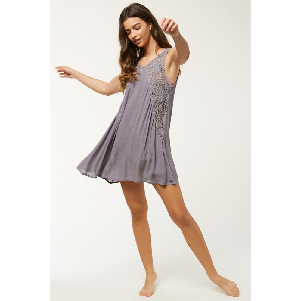 O'NEILL Saltwater Solids Tank Dress - STEEL GREY
