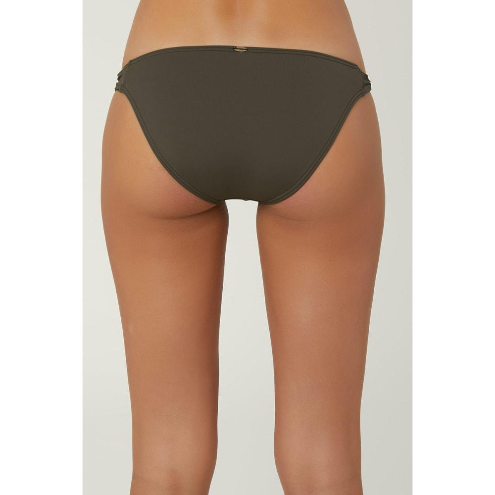 O'NEILL Juniors' Salt Water Solids Bikini Bottoms - OLIVE GREEN