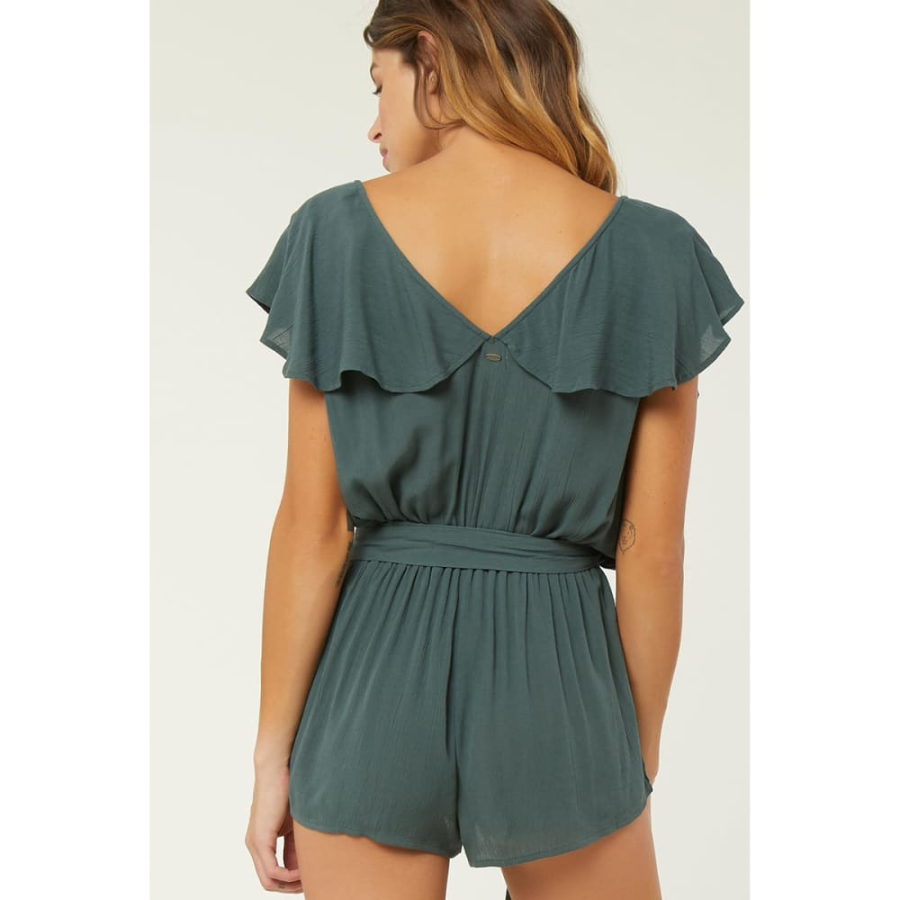 O'NEILL Juniors' Dash Cover-Up Romper - OLIVE GREEN