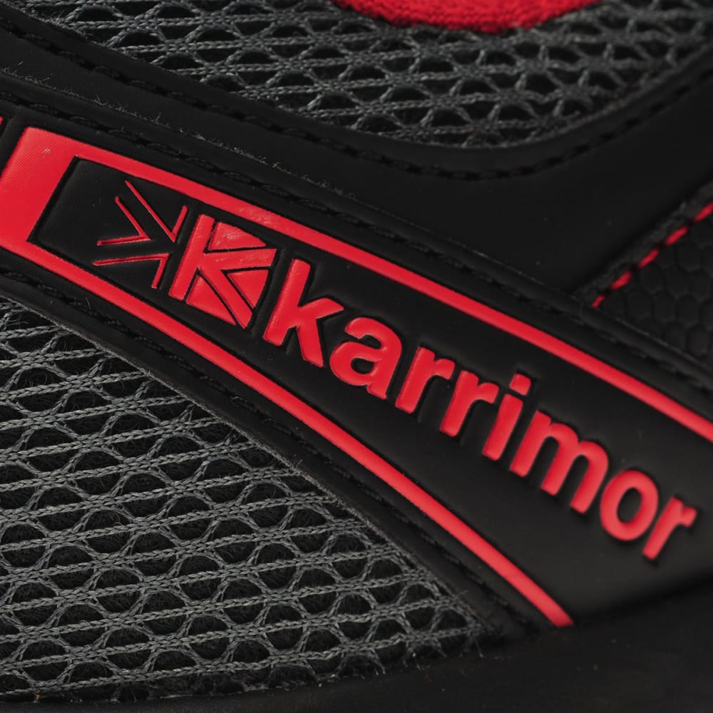KARRIMOR Men's Caracal Trail Running Shoes - CHARCOAL/RED