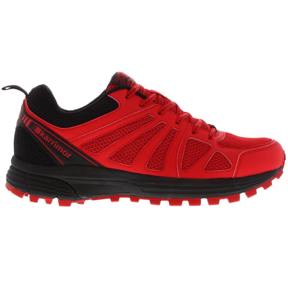 KARRIMOR Men's Caracal Trail Running Shoes - RED/BLACK