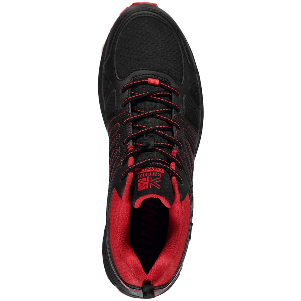KARRIMOR Men's Caracal Waterproof Trail Running Shoes - BLACK/RED