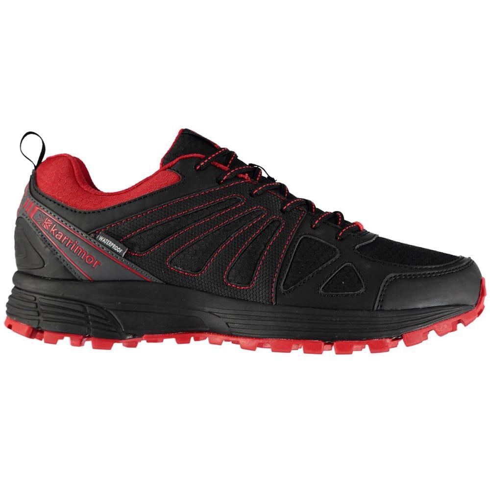 KARRIMOR Men's Caracal Waterproof Trail Running Shoes - BLACK/RED